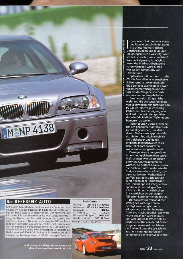 sport auto CSL Supertest